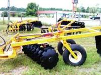 Nice selection of heavy duty offset Amco Harrows new