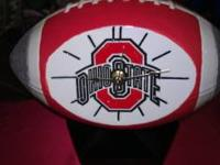 This is a ceramic Ohio state football clock. A great