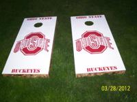COMPLETE OHIO STATE CORN HOLE SET FOR ONLYB $70.00