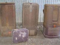 Antique Oil Heaters 2 Superflame and one Coleman $75
