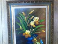 This is lovely framed painting by Lynn Brown with