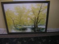 BEAUTIFUL OIL ON CANVAS PICTURE SIGNED BY NOBLE WITH