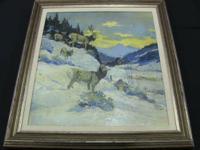 Paul Gregg Mountain Scene. Denver artist with Denver