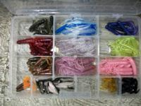 I have for sale a clear box full of lures and plastic