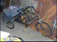 selling an old amf three wheel bike ,needs a little