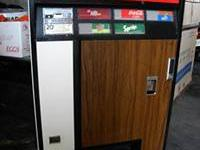 antique coca cola/7 up machine. Very light surface