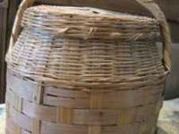 Make an offer on this old basket with lid  Location: