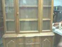 Nice old china cabinet (bassett inc.) 150.00  Location: