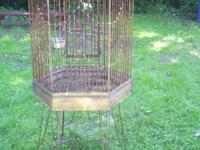 Old Bird Cage and Stand. Not sure where it was made but