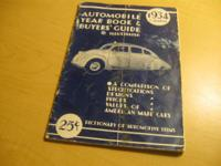 Old Car Booklet American Made Cars Shows prices,