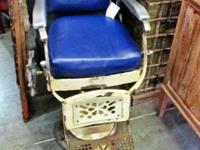 This original cast iron barber chair came from New
