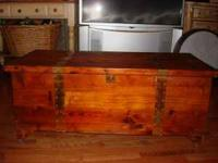 Beautiful Old cedar chest.$75.00  Location: Munford