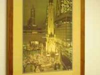 Framed Art work of Old Chicago and Old Madison CAll Ray