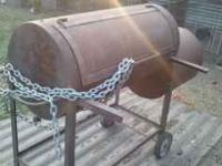 "Old Country BBQ Smoker Firebox: 20"" diameter x 20"" long"