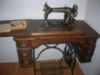 Old Damascus Treadle Sewing Machine - $250 (Chehalis)