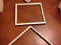 Three old distressed wood window frame. $12 each or 3