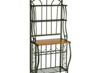 This beautiful Scroll Bakers Rack is made of steel with