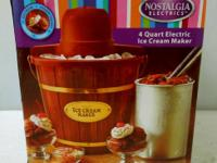 $35  DETAILS: Makes 4 quarts of ice cream per batch.