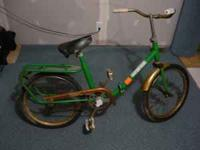 I have an old Barbarella folding bike. folds in half