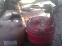 Vintage gas cans. Normal wear. Have been used for