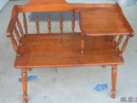 For sale is an old Gossip Telephone Bench Chair. This
