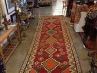 Old Hand Knotted Tribal Kilim Carpet. 40 to 60 Years of