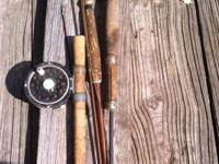 old flyrods and reels   old metal flyrod handle