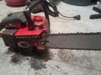Got a real nice Homlite XL 400 Chainsaw, for the