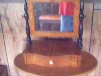i have got a old wooden jewlery box with mirror $35