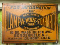 Old Lampa-Menze-Stukhart Insurance/Real Estate Sign, c.