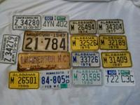 I have some old license plates here if your interested