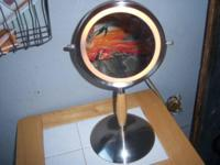 THIS IS A COOL MIRROR THATS ALL CROME & LITTLE WOOD.