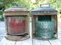Old Marine Boat Lanterns - both are in quite rough