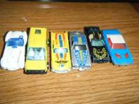 6 old matchbox and hotwheels cars range from 1977 to