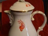 Antique Meissen Red Dragon Coffee/Tea/Desert service