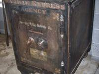One big heavy old Railway Express Agency, safe. A