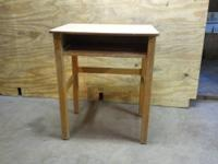 Interesting vintage wooden modern child's school desk