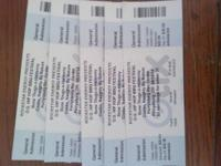 I have 5 tickets to the Rock Star Energy O.G. Hip Hop