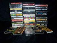 Selling small box of 46 used old school rap, hiphop,