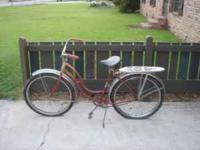 Early 1950's ladies Schwin in good condition. needs new