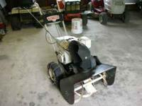 OLD SEARS SNOWBLOWER 6HP MOTOR RUNS OLD CHAIN DRIVE