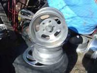 a pair of ansen sprint's slot wheel's, 14X8 fit's GM 4