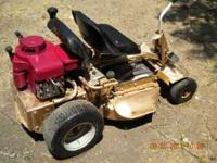 Old Snapper riding lawn mower for sale. Engine has been