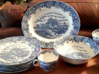 This vintage Olde Staffordshire Ironstone set of dishes