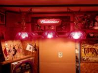 "Light Is 17"" Ht. X 48"" Long. ""RED Tiffany Lamps"" 12"""