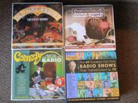 4 various collections of old time tapes. Great for