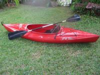 Old Town Otter Kayak, 9 feet 6 inches, with Paddle.