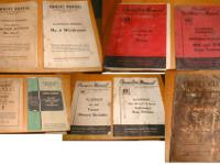 Here are a bunch of old tractor and implement manuals.