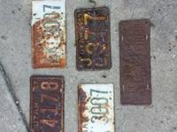 I have 5 old Utah license plates for sale, see price by