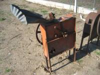 I have 2 old hand crank corn shellers 1 looks like a